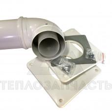Коаксиальный дымоход конденсационного котла Ø 80/125 мм. PP-R+Fe. (premium)
