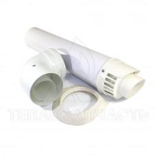 Коаксиальный дымоход конденсационного котла Ø 80/125 мм. PP-R+Fe. (Economy)