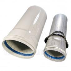 Коаксиальный удлинитель Ø 80/125 мм. AL+Fe. Длинна 0,25 м. - CE.00.60 H