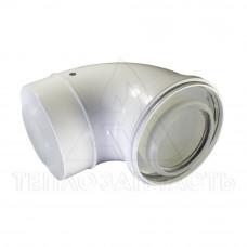 Колено коаксиального дымохода конденсационного котла Ø 80/125 мм. 90°