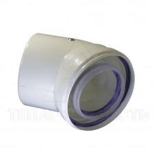 Колено коаксиального дымохода конденсационного котла Ø 80/125 мм. 45°