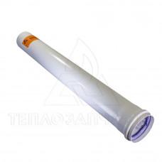Подовжувач роздільного димоходу (одинарний) Ø 60 мм. L = 0,5 м. AL