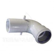 Колено раздельного дымохода (одинарное) Ø 60 мм. 90° AL