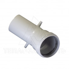 Колено раздельного дымохода (одинарное) Ø 60 мм. 45° AL