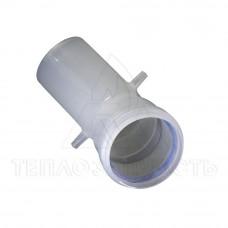 Колено раздельного конденсационного дымохода Ø 60 мм. 45° (м-п)