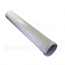 Удлинитель раздельного дымохода (одинарный) Ø 80 мм. L=0,5 м. AL