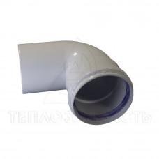 Коліно роздільного димоходу (одинарне) Ø 80 мм. 90 ° (м-п) AL