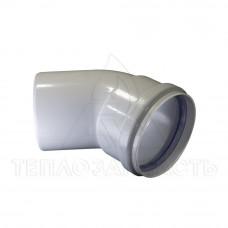 Колено раздельного дымохода (одинарное) Ø 80 мм. 45° (м-п) AL