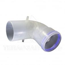 Колено раздельного конденсационного дымохода Ø 80 мм. 90° (м-п)