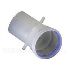 Колено раздельного конденсационного дымохода Ø 80 мм. 45° (м-п)