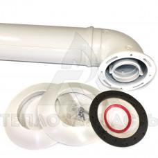 Коаксиальный дымоход (комплект) Ø 60/100 мм. AL+Fe. Bosch, Buderus