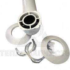Коаксиальный дымоход (комплект) Ø 60/100 мм. AL+Fe. Immergas