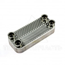 Теплообмінник пластинчастий 12 пл.5 фланців Daewoo Gasboiler - 338106220
